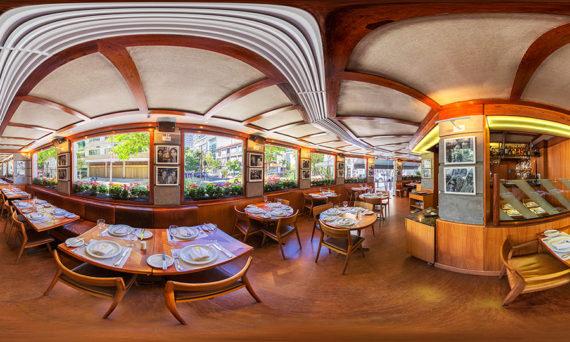 fotografia 360, tour virtual, restaurante, ipanema