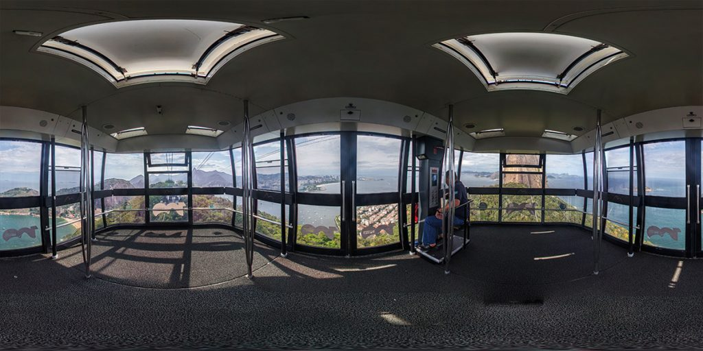 Teleférico Pao de açucar em 360° para o google street view