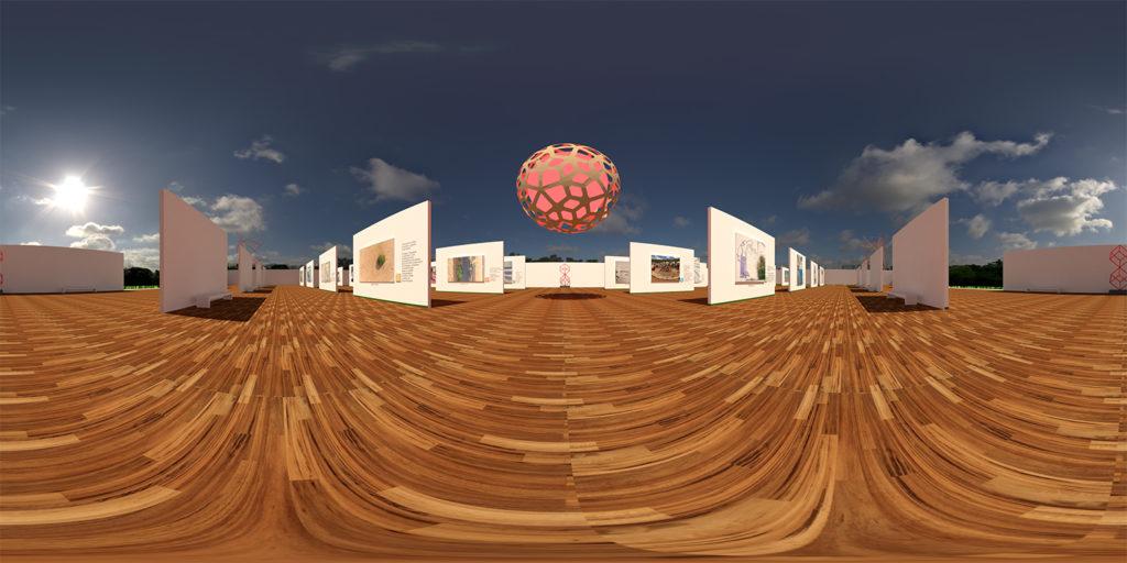 Galeria de arte 3D em 360 graus